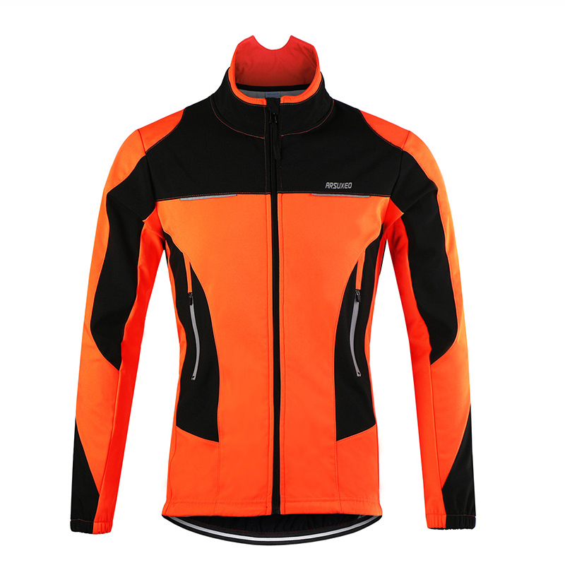 цена Hot Sale Windproof Sports Coat MTB Bike Cycling Jersey Waterproof Thermal Cycling Jacket Winter Warm Up Bicycle Clothing онлайн в 2017 году