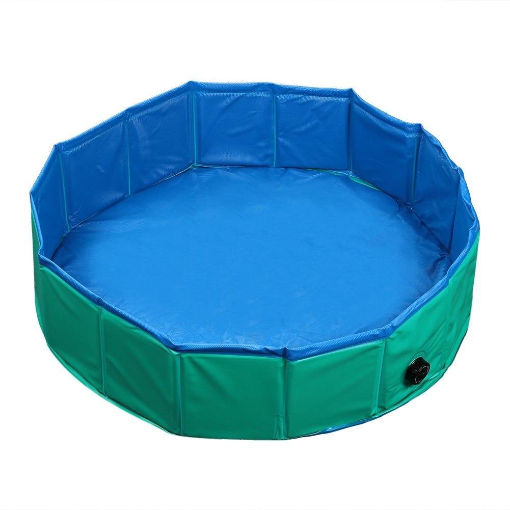 Foldable Pet Swimming Pool Bathing Tub Bathtub Dog Cats Washer Green ...