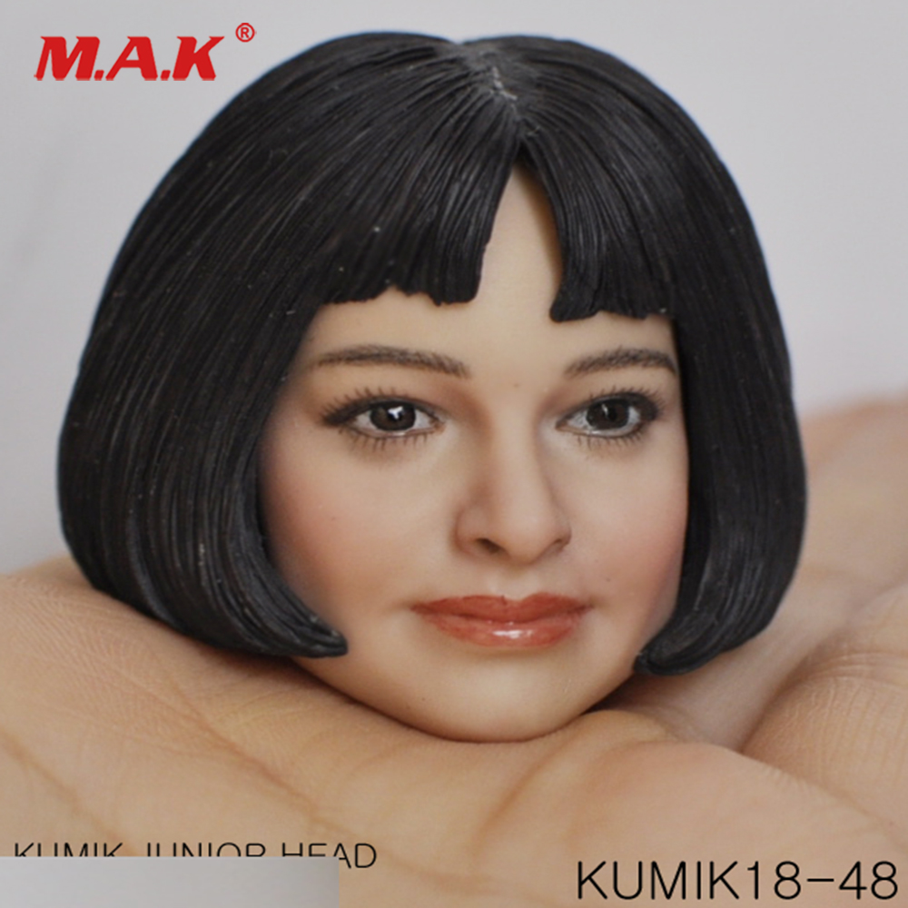 1/6 Scale Female Head Sculpt KM18-48 Junior Girl Head Carved 1/6 Leon Matilda Head Model for 12inches Action Figure Body 1 6 scale female head shape for 12 action figure doll accessories doll head carved not include body clothes and other km15