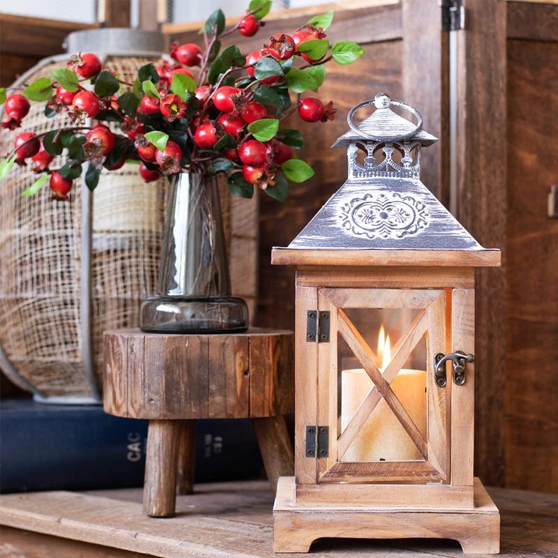 Bougeoirs maison forme bois sculpté décoration de mariage Table chandelier pour maison jardin sol fer chandelier décor à la maison