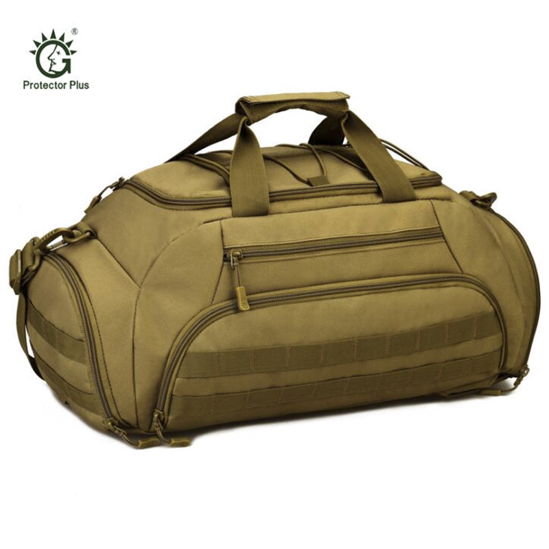 Protector Plus Military Tactics Travel Bag 35L Large Capacity Luggage Travel Duffle Bags Multi-function Camping Backpack S392 tactics hunting backpack large capacity nylon 1000d shoulder bags luggage tote hike camp backpack laptop travel molle bag 35l