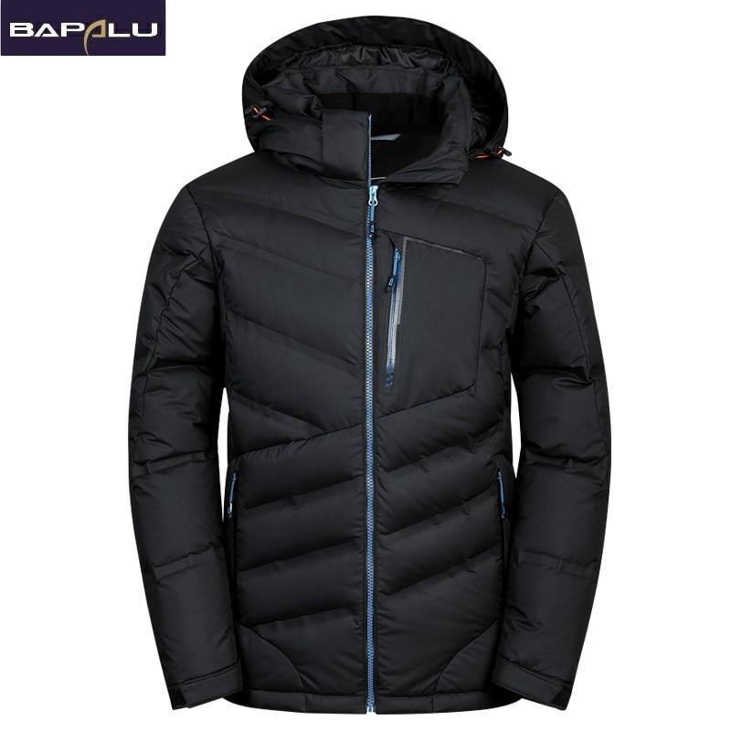 2018 New fashion Warm White Duck Winter Coat Hooded Mens Waterproof windbreak Male Casual hoodie Warm Down Jacket Coat-in Down Jackets from Men's Clothing    2