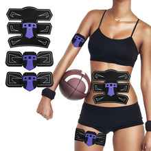 Abdominal Muscle Trainer Smart Muscle Stimulator Building Fitness ABS Arm Leg Pad Fitness Body Massager Slimming EMS Stimulation(China)