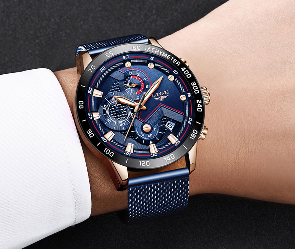 HTB1iWH7ONYaK1RjSZFnq6y80pXaL LIGE Fashion Mens Watches Brand Luxury WristWatch Quartz Clock Blue Watch Men Waterproof Sport Chronograph Relogio Masculino