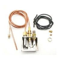 2PCS 900mm M8*1 Propane Gas Fire Pit Heater Replacement Parts Flame Pilot Burner Assembly Kit