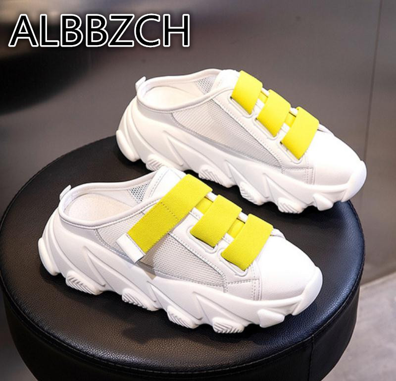 Summer Women Shoes Platform Slippers Trend Sneaker Girls Slides Breathable mesh Comfortable Ladies Slippers Womens Casual shoesSummer Women Shoes Platform Slippers Trend Sneaker Girls Slides Breathable mesh Comfortable Ladies Slippers Womens Casual shoes