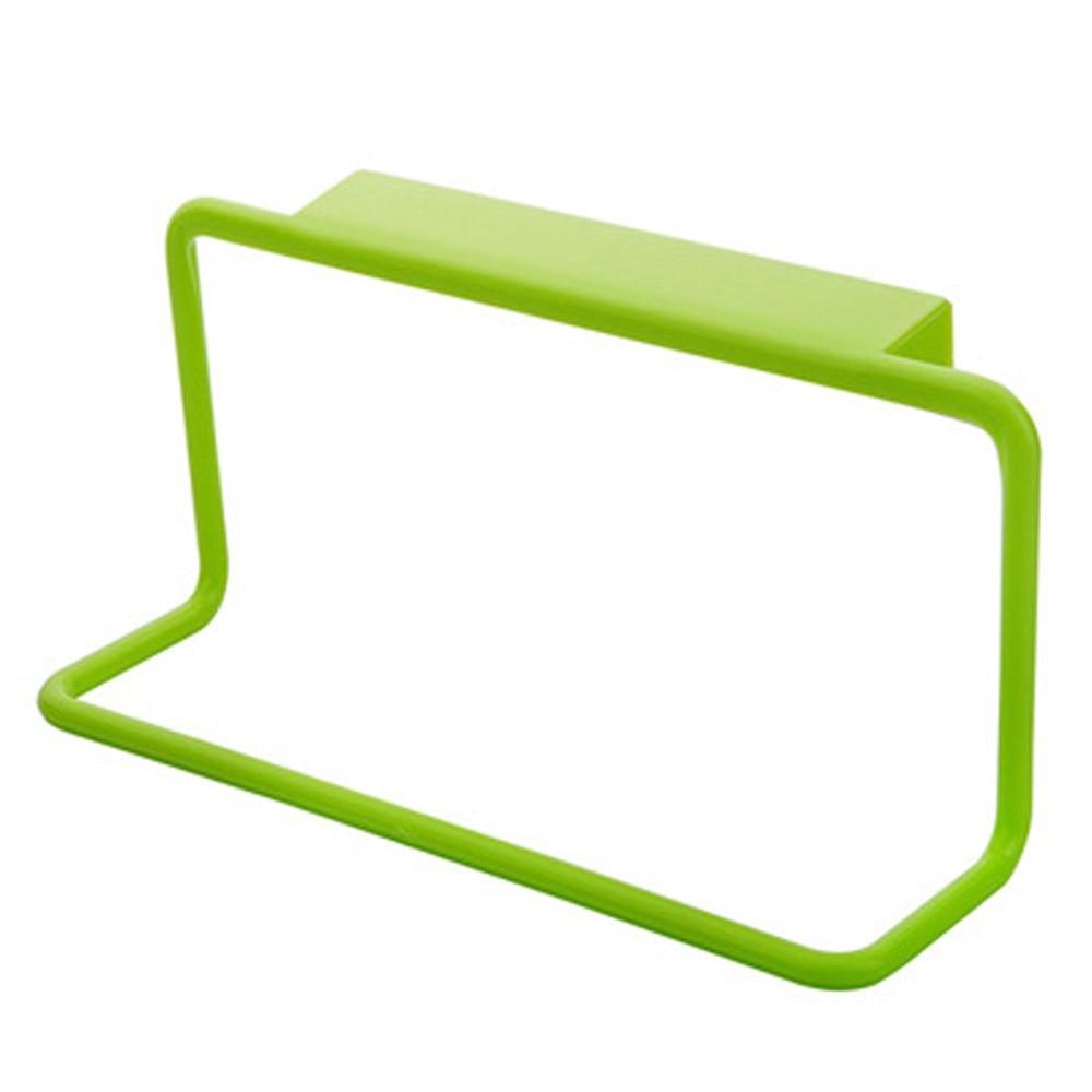 Держатель для полотенец вешалка для полотенец подвесной держатель Органайзер для ванной комнаты кухонный шкаф вешалка для шкафа - Цвет: Зеленый