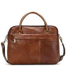 hot deal buy imido genuine leather briefcases men messenger bag shoulder bag 13inch laptop bag