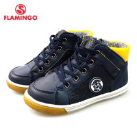 FLAMINGO Autumn Keep Warm Non slip Arch Health Children's Shoes for Kids Boys with Flats Size 23 28 Sneakers Shoes 82B SW 0886