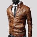 Man jacket 2016 New PU spring/summer outfit man fur collar of cultivate one's morality short paragraph pu leather jacket