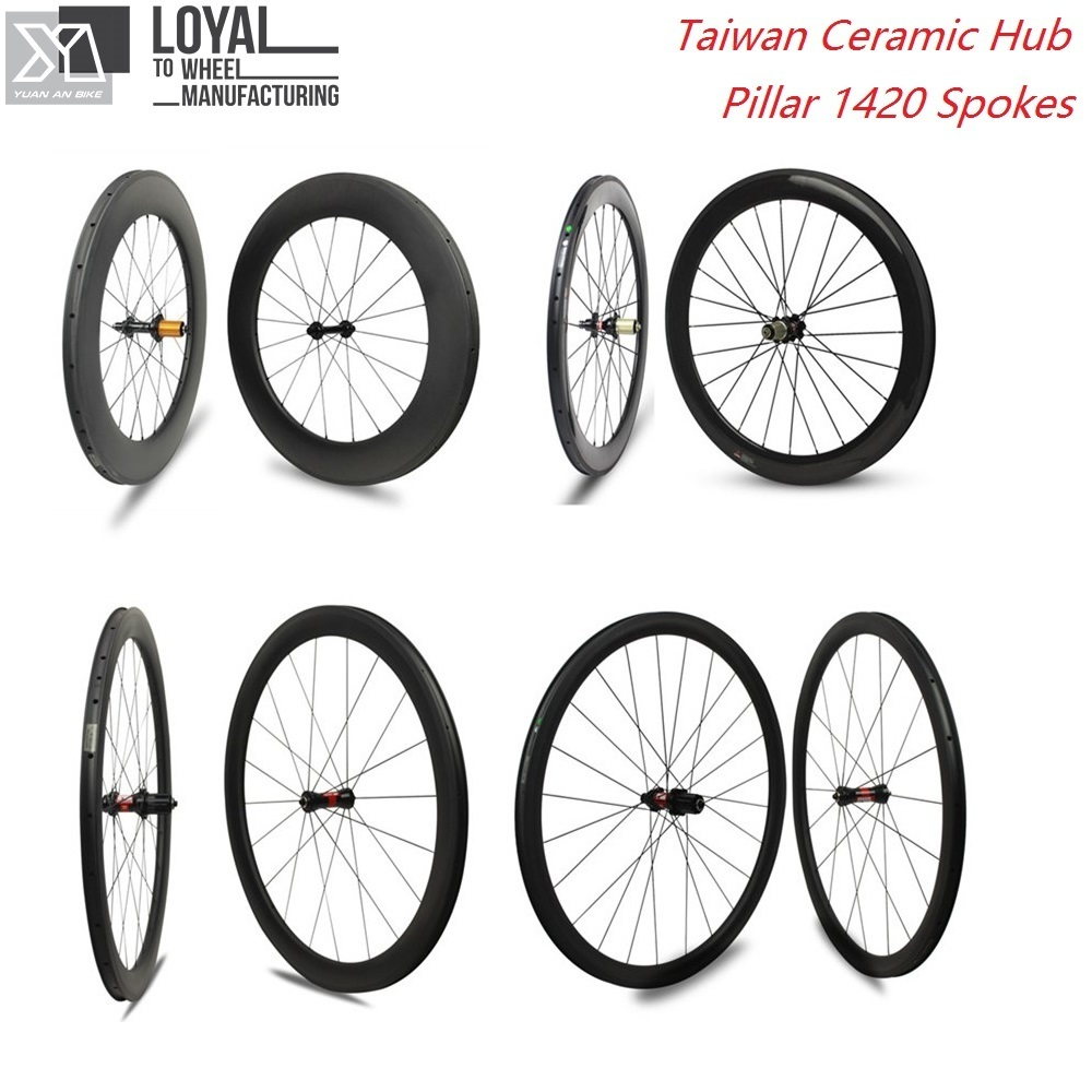 цена на 700c Carbon Bike Wheel 25mm Width U Shape 38mm 50mm 60mm 88mm Clincher Road Wheelset With Taiwan Ceramic Straight Pull Hub