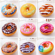 Chocolates Donut Pillow Cute Cushion Christmas Donuts Decorative Sofa Seat Decor Xmas Kids Cushions With PPcotton Filling