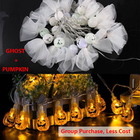 Pumpkin Light 10 20 Led Halloween Lamp Decorations For Garden Outdoor Backyard Party Lights Luces Led