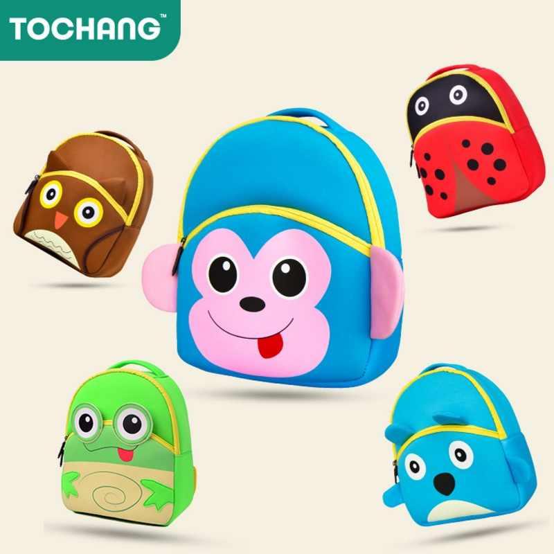 520bfefe6d Child Neoprene 3D Cartoon Animal School Bags Kindergarten Boy Girls Bag  Baby Kid Backpack Infant Monkey