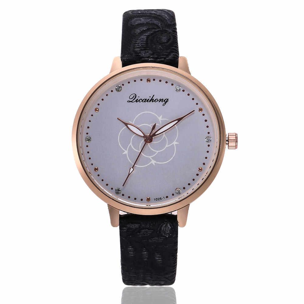 טמפרמנט גדול חיוג נשים שעונים של יוקרה ריינסטון קריסטל שעונים מתנת שעון גבירותיי שמלת עור קוורץ שעוני יד # W