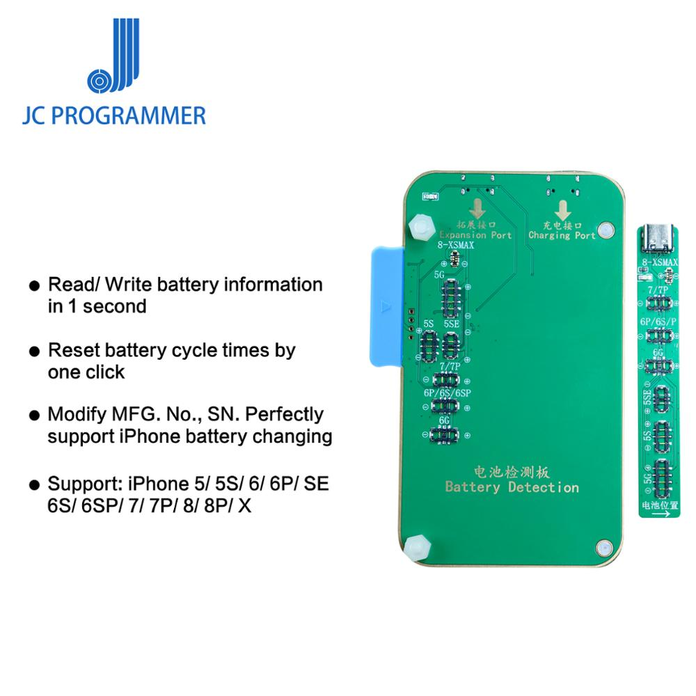 JC PRO1000S Programmer Battery/Lighting Cable/Earphone Detection Tool For IPhone 5 5S SE 6 6P 6S 6SP 7 7P 8 8P X