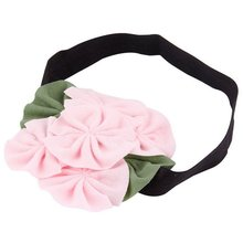 2017 NEW Girl Flower Headband Headdress—Pink & Green & Black