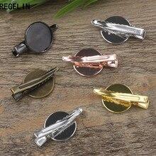 REGELIN ювелирные изделия для волос крепление для кабошона пустой ободок лотки 18 мм кабошон камея 10 шт./лот DIY Крокодил База аксессуары