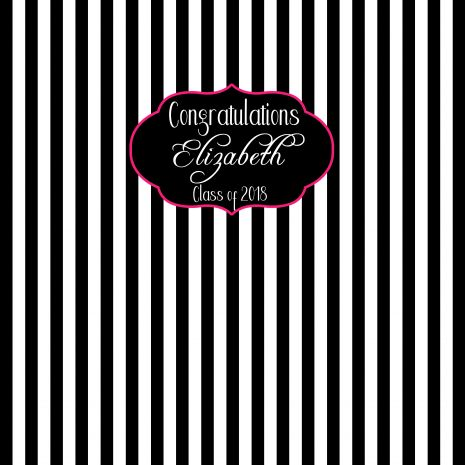 custom Congratulations Black And White Striped backgrounds High quality Computer print party backdrops
