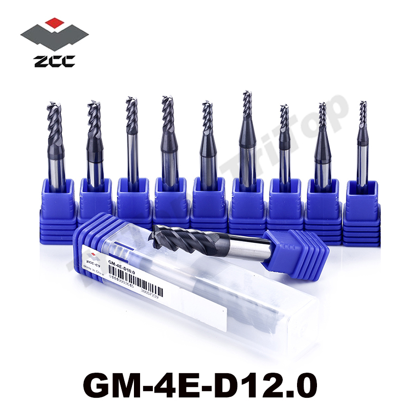 ZCC CT tools GM-4E-D12.0 Solid Carbide 4 flute flattened end mills tungsten carbide end mill milling cutters