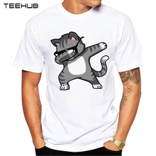 2018 Summer Fashion Dabbing Pug T-Shirt Newest Men Funny T Shirts Dabbing Unicorn/Cat/Zebra/Panda Tops Hip Hop Tee