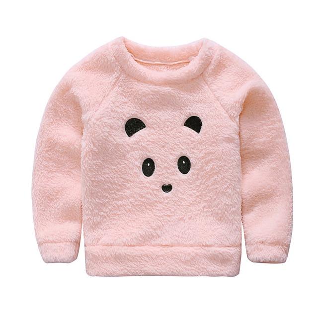 9f550fe62 Newborn Cute Cartoon Animal Bear Baby Sweaters Infant Warm Fleece ...