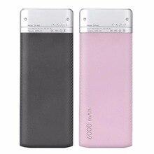 6000 мАч Ёмкость Универсальный Quick Charge Портативный Батарея Мощность банк зарядка через USB Порты и разъёмы кожаный чехол Зарядное устройство для Xiaomi мобильного