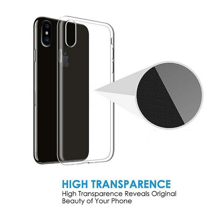 For iphone X XR XS Max 8 7 6 6s plus 5s 5 SE Case Ultra Thin Crystal Clear Transparent Soft Silicone TPU Protection Case Cover in Fitted Cases from Cellphones Telecommunications