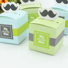 hot deal buy avebien 20pcs hot baby shower favors beard candy box kids event party supplies chocolate pack gift box birthday party decoration