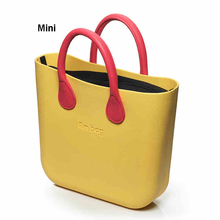 Mini Mid Size Obag O bag Style AMbag with Insert Lining and Colorful Handles Waterproof Fashion Women's EVA silicon DIY bags