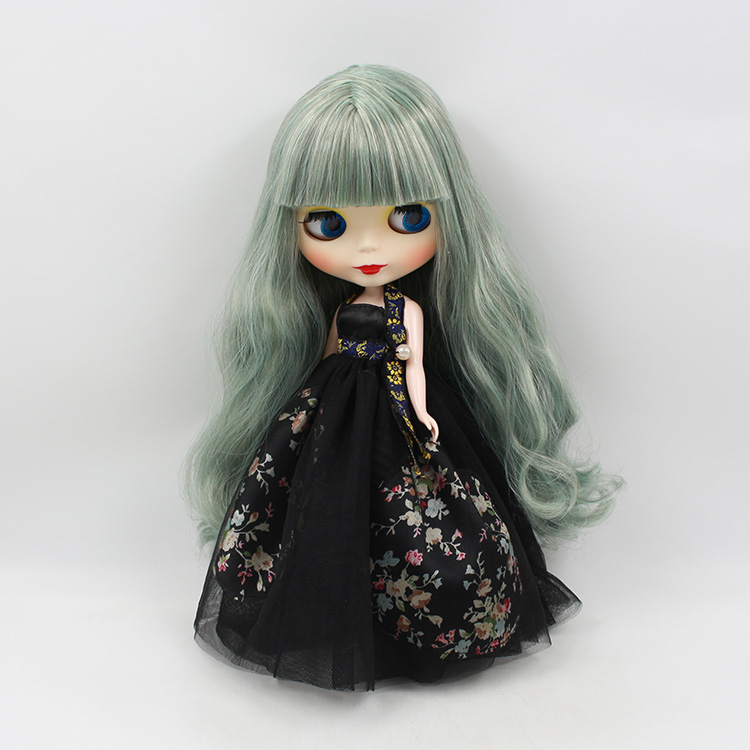 Mini 1/6 Bjd  Neo Blyth nude doll modified shell green long hair with bangs doll for sale 28 5cm mini nude doll blyth bjd doll doll blonde long hair with bangs modified diy doll girls favorite fashion doll