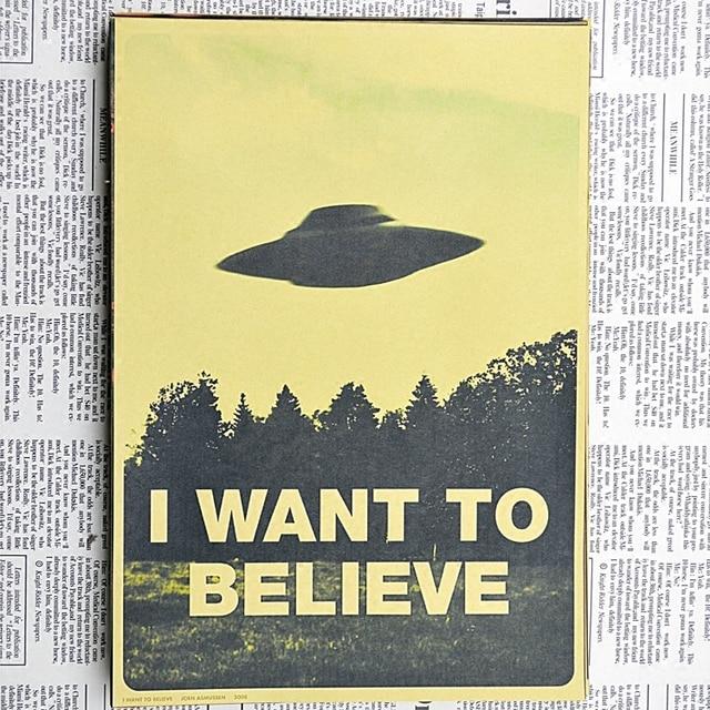 I Want To Believe, The X Files Movie Film Vintage Retro Decorative ...