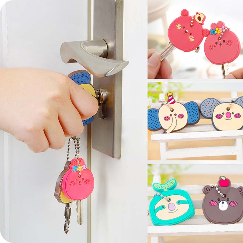 100Pcs DIY Mini Pocket Monster Figures 3D Key Cap Cover Pendant Birthday Party Decorations Kids Favors