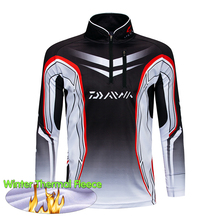 Winter Thermal Fleece Fishing Clothes Daiwa Clothing Jersey Pro Long Sleeve Shirts Quick-Drying Jacket