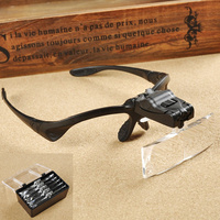 Di alta qualità testa lente di ingrandimento con luce led 5 Lente dentale lenti di ingrandimento magnifier per la riparazione della vigilanza dei monili 1.0-3.5X