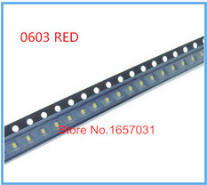 Free Shipping 4000pcs SMD 0603 RED Ultra Bright,Super bright,1608 red light light-emitting diode SMD LED Lamp bead