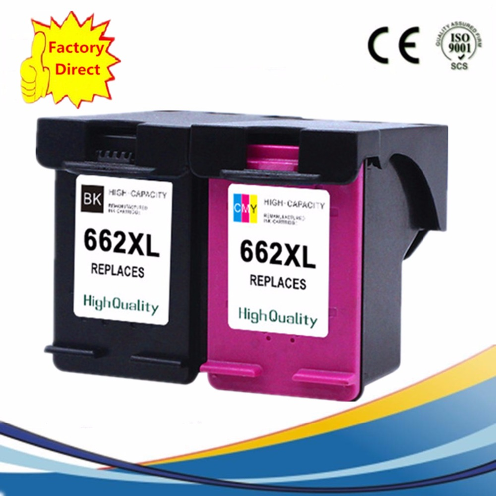 Ink Cartridges Remanufactured For HP 662 XL 662XL HP662 HP662XL Deskjet Advantage 1015 1515 2515 2545 2645 3515 3545 4515 4645 картридж hp 650 ink advantage cz102ae color для 2515 3515