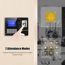 Биометрический отпечаток пальца пароль посещаемость времени машина с 2,8 дюймовый TFT экран сотрудников проверка-в рекордер считыватель времени часы