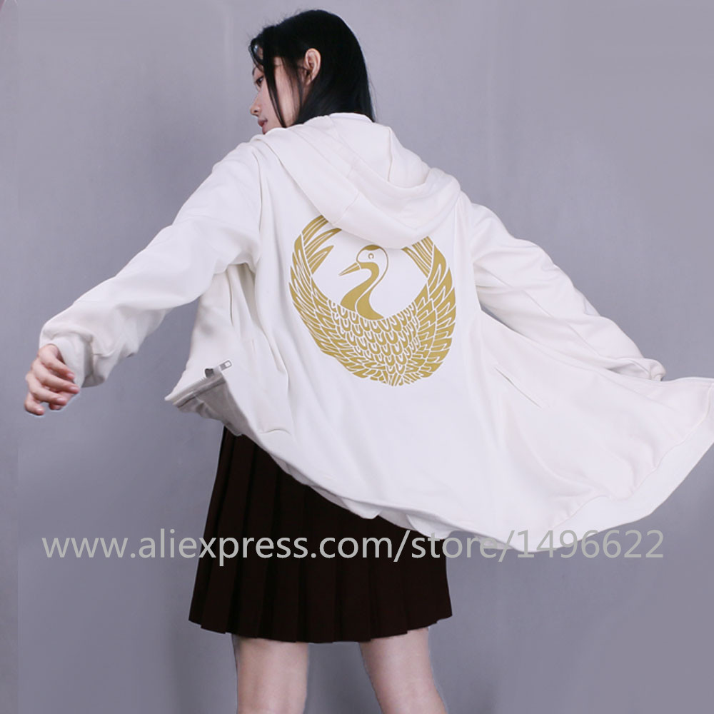 Anime Touken Ranbu Online Sweatshirts Cosplay Tsurumaru Kuninaga Jckets Cotton Coats Halloween Party Animation Hoodies (3)