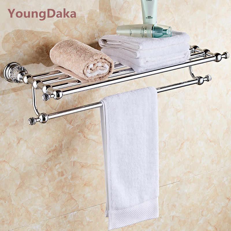 Akcesoria łazienkowe chrom kryształ Okrągły wieszak na ręcznik wc uchwyt na papier uchwyt na kubek wieszak na ręczniki wieszak ścienny sanitarne Suite