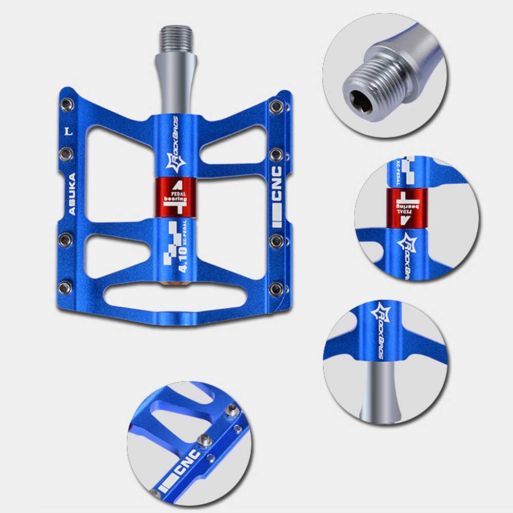 Zaawansowane 4 łożyska górski pedały rowerowe ze stopu aluminium ze stopu aluminium pedały rowerowe jazda na rowerze łożyska Mountain antypoślizgowe na stopy Multi-kolory pedał