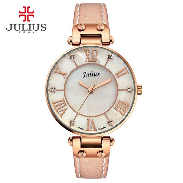57d5f5cec901 2018 New Julius Watches Women Stainless Steel Quartz Watch Brand Thin Ladies  Watch Waterproof Relogio Feminino Vintage Clock. 1 order