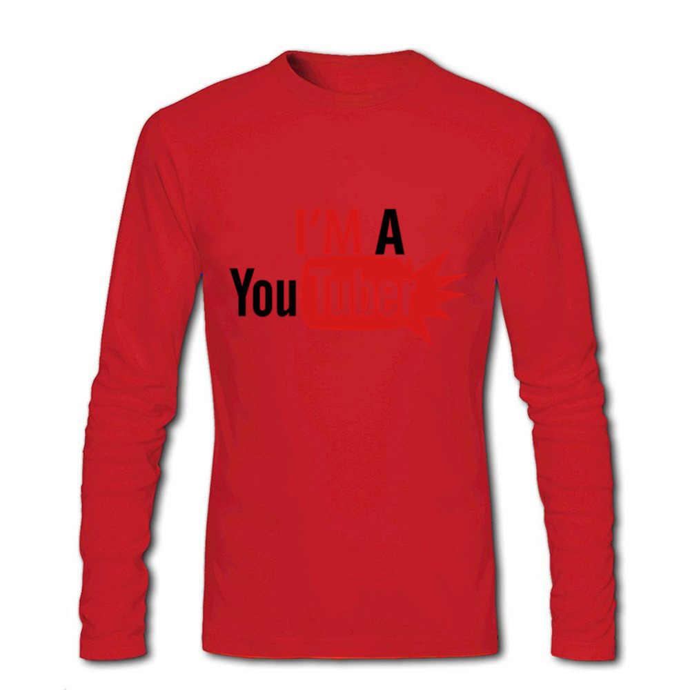 2018 модная мужская футболка I'm a Youtuber, роскошные брендовые футболки из хлопка с 3d длинным рукавом, Мужская футболка Camisetas, компрессионная футболка joker