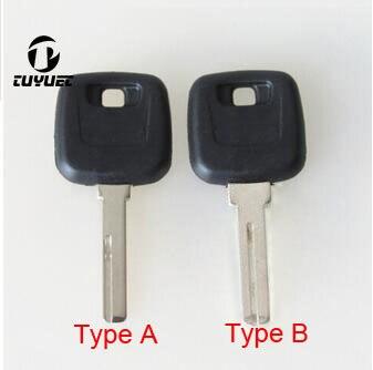 Auto Blanks Sleutel Case voor Volvo S80 XC90 Transponder Sleutel Shell Ongecensureerd Blade Key Case met logo