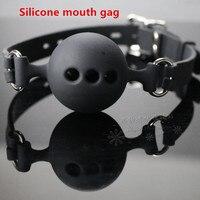 Высокое качество силикона рот кляп мяч кляп-расширитель эротические игрушки БДСМ ограничивающая повязка секс-игрушки для взрослых для пар ...