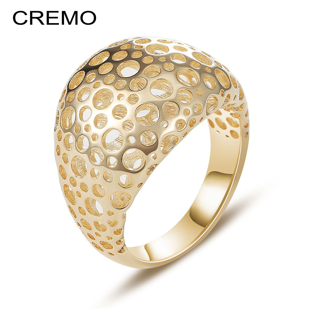 Cremo Hollow Ring Femme Argent Personalized 3-Dimensional Froth Band Rings For Women Fashion Jewelry Bague