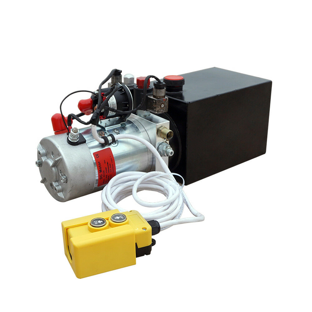 8L Double Acting Hydraulic Power Unit 12V Trailer Pump Power Unit 3200 Psi