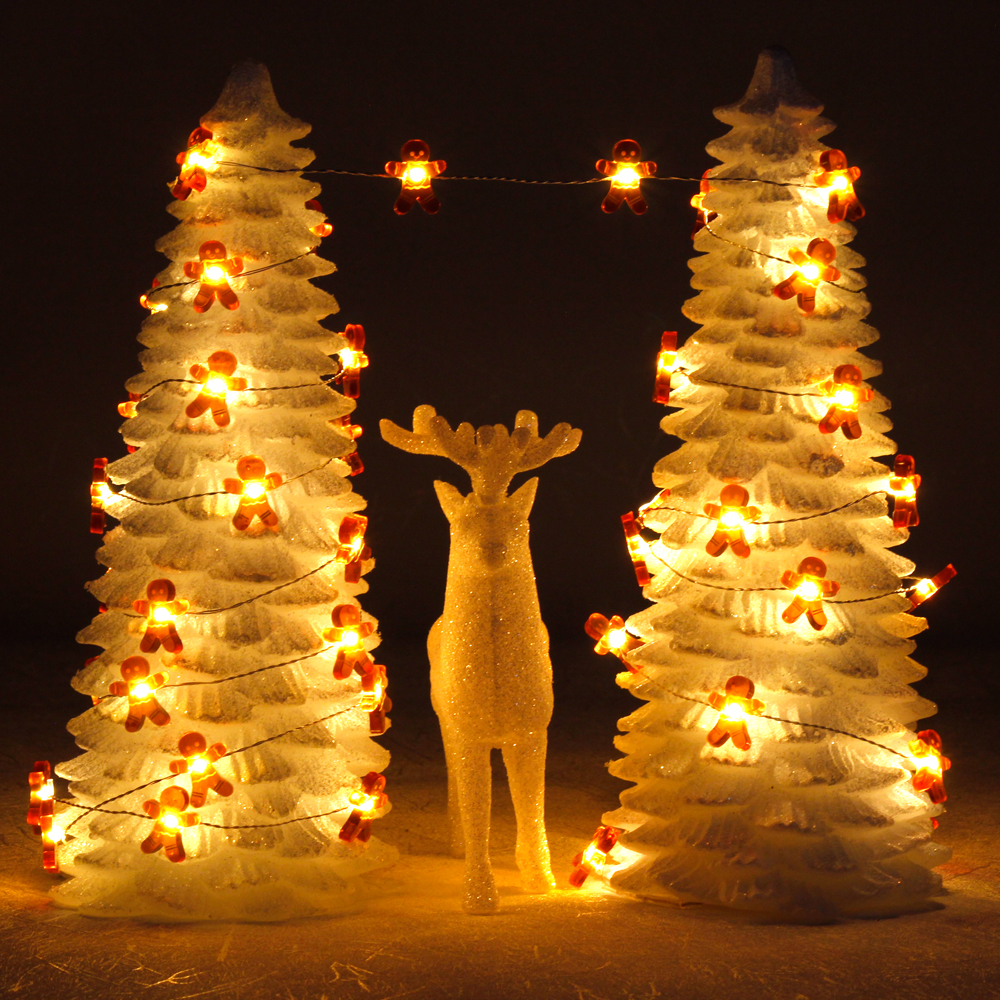 led string lights gingerbread man 10ft 40 cookies copper wire new year garlands wedding christmas tree fairy kitchen decorations in lighting strings from