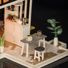 Handmade Doll House with Furniture Miniature Diy Doll Houses Miniature Dollhouse Kitchen Wooden Toys For Children Birthday Gift