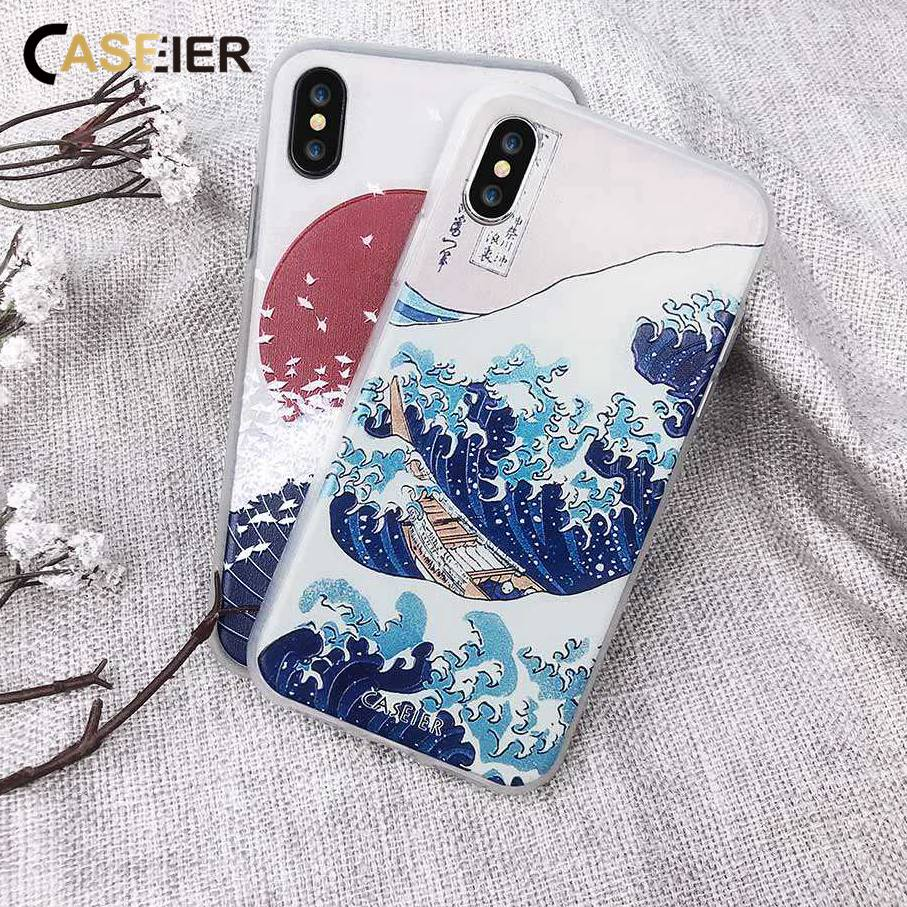 CASEIER Telefoon Case Voor iPhone 7 8 6 6s Plus Cases Soft TPU Ultradunne Japanse Cover Voor iPhone X 5s 5 SE Funda Capinha Capa
